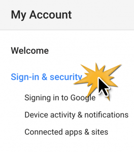 Google sign in and security