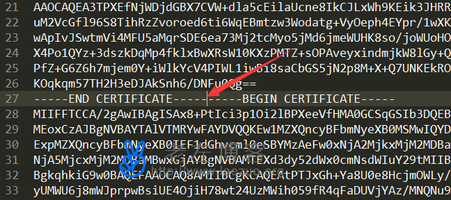 "解决配置SSL证书出现""PEM_read_bio:bad end line""问题"