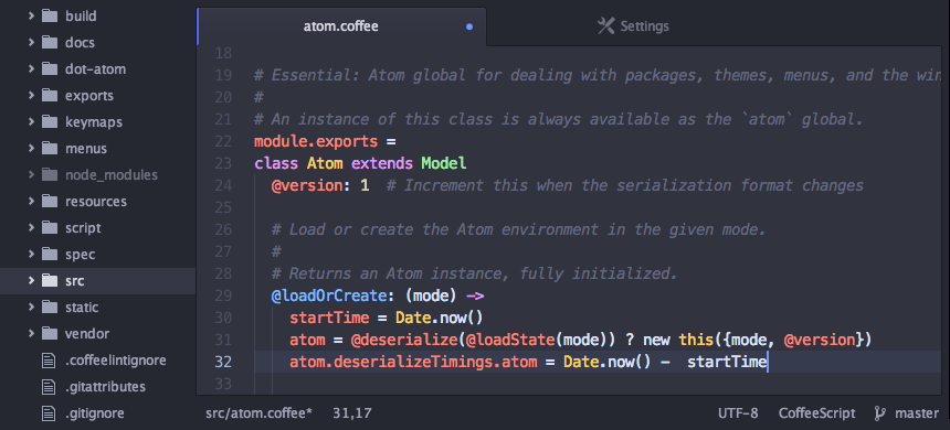 Atom is a text editor that's modern, approachable, yet hackable to the core—a tool you can customize to do anything but also use productively without ever touching a config file.