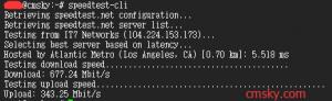 linux下使用speedtest测速