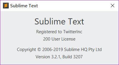 【伪正版】Sublime Text 3截止2019.04.08最新版本破解 3207